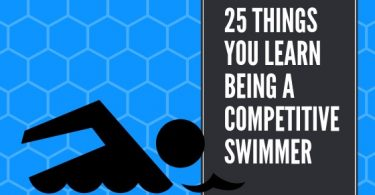 Swimmer explaining things he learned from competitive swimming