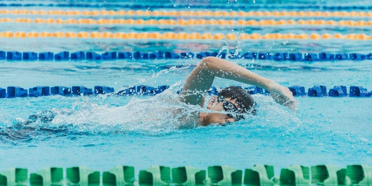 Swimmer performing the front crawl
