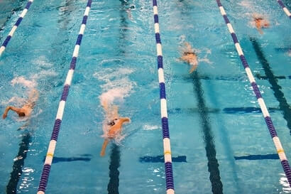 head position distance swimming